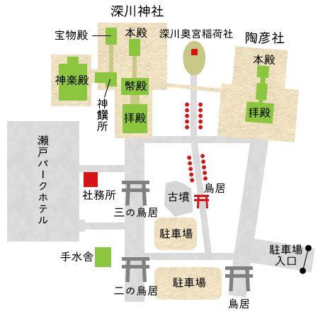 深川神社周辺地図